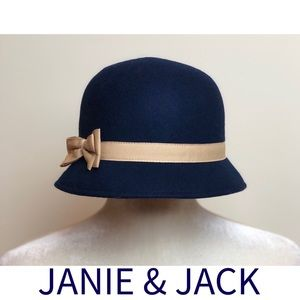 JANIE AND JACK Girls Navy Wool Hat Size 2T-3T